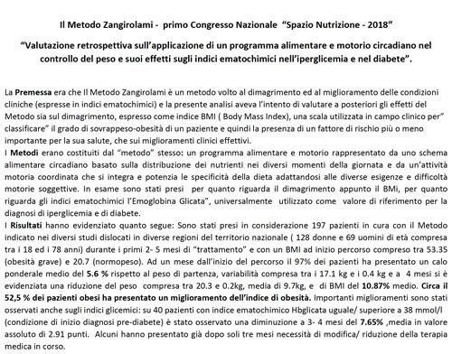 """Primo Congresso Nazionale """"Spazio Nutrizione – 2018"""""""