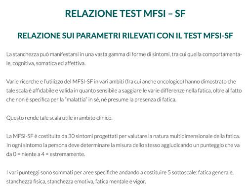 Relazione Test MFSI – SF