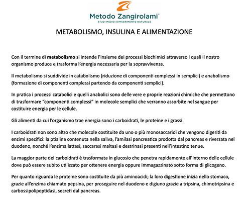 Metabolismo, insulina e alimentazione