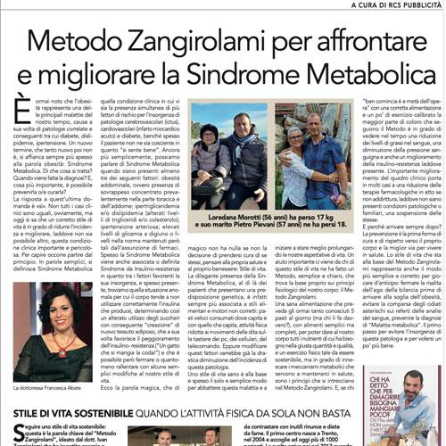 Metodo Zangirolami per affrontare e migliorare la sindrome metabolica